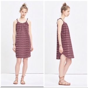 Madewell maroon ikat sundress medium